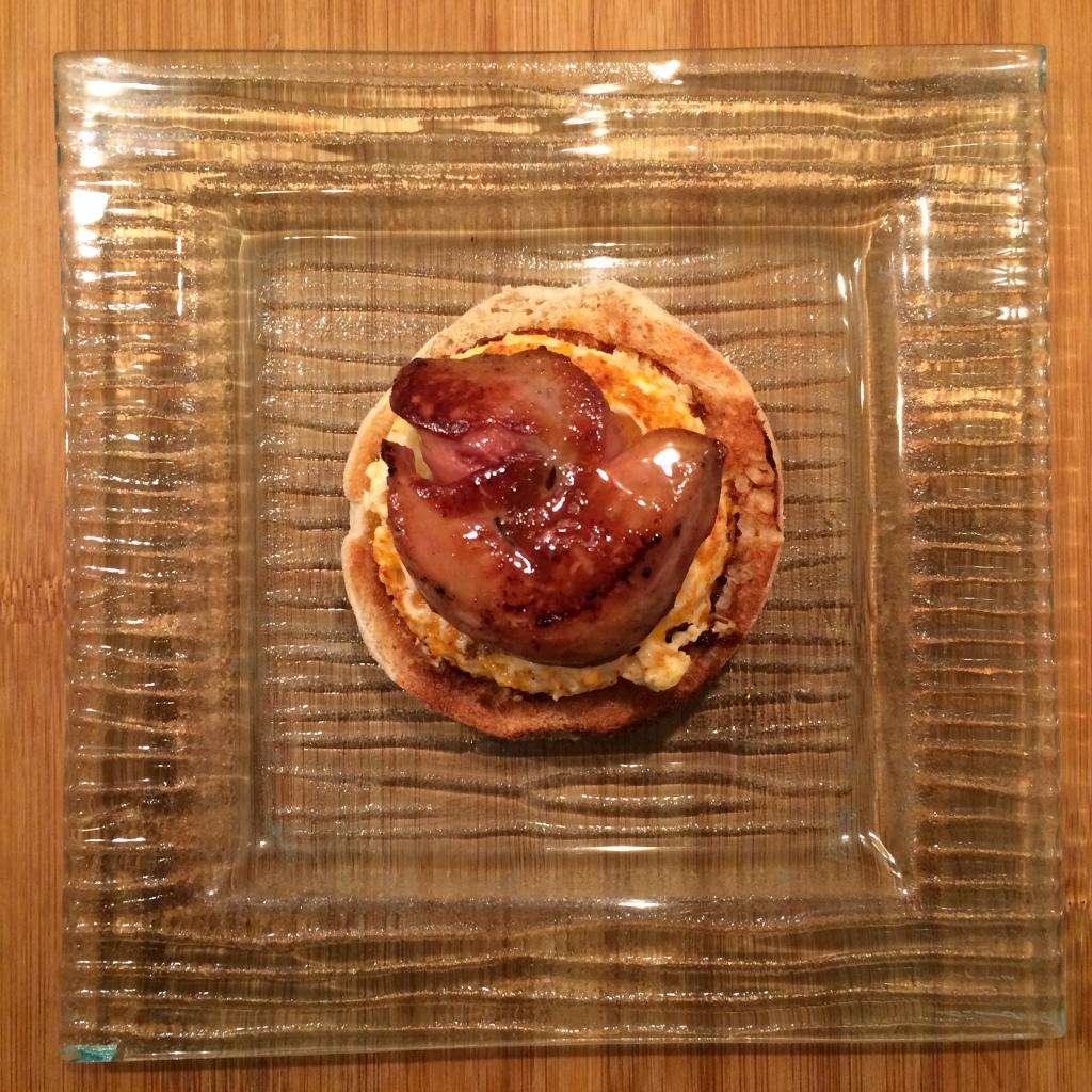 Foie gras sur muffin